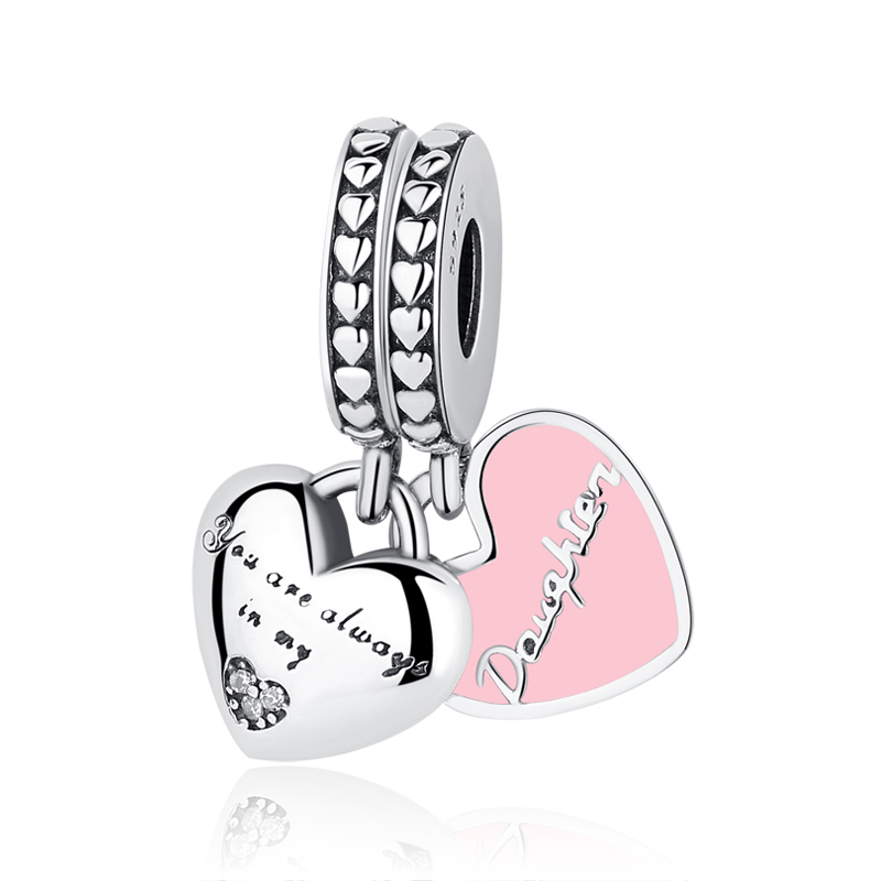 Buy Original 100% 925 Sterling Silver Bead Charm Mother Daughter Pendant Charms