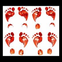 Horror Props BLOODY FOOT FEET PRINTS DECALS Floor Stickers Halloween Dec... - $7.89