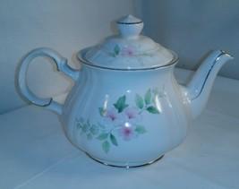 Vintage Sadler Pattern # 3923 Ornate Pink Floral Gold Gilded Teapot - $32.68
