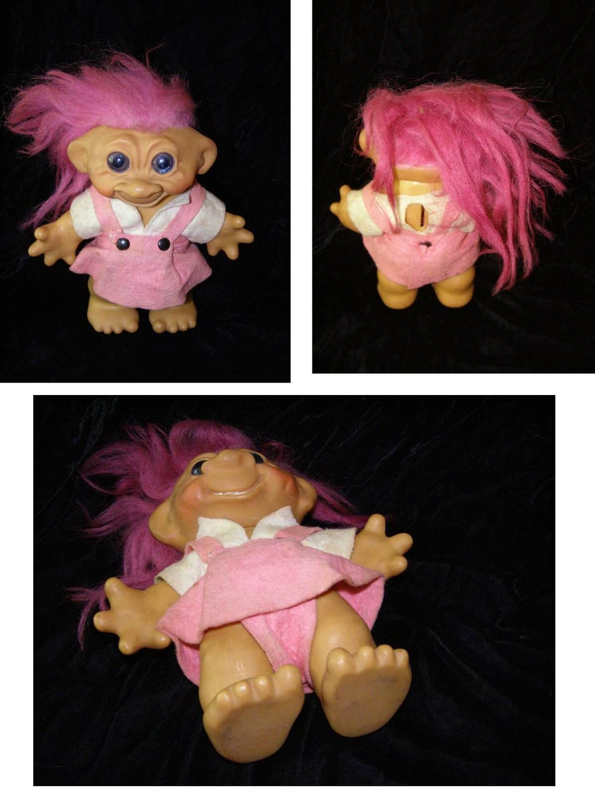 Troll Vintage Doll Pink hair 7 inches