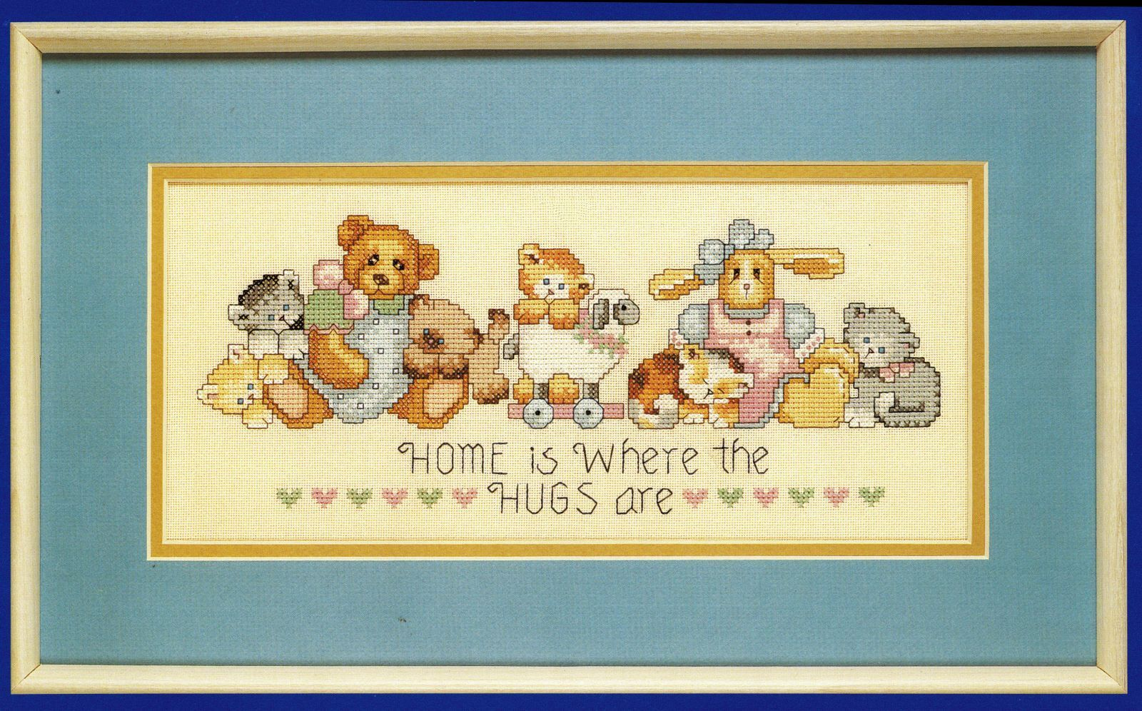 "Primary image for Coats & Clark Counted Cross Stitch Warm Hugs Kittens Stuffed Animal Kit 13"" x 6"""