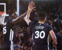 STEPHEN CURRY KEVIN DURANT DUAL SIGNED AUTOGRAPHED 16x20 PHOTO WARRIORS ... - £449.60 GBP