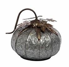 Transpac Imports, Inc. Pumpkin Silver Toned 11 x 11 Pressed Metal Harves... - $51.21