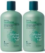 (2 Pack) Thicker Fuller Hair 12 Oz Repairing Organic Quinoa Keratin Cond... - $28.70