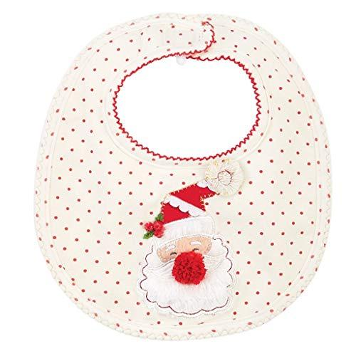 Primary image for Mud Pie Christmas Holiday Baby Girl Very Merry Feeding Bib (Santa Dot)