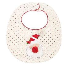 Mud Pie Christmas Holiday Baby Girl Very Merry Feeding Bib (Santa Dot) - $16.65