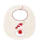 Mud Pie Christmas Holiday Baby Girl Very Merry Feeding Bib (Santa Dot) - $16.65