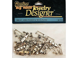 "Darice Jewelry Designer Big Value 3/4"" Steel Pin Back #1880-57"