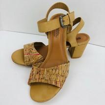 Patrizia by Spring Step Shivin Beige Cork Like Buckle Strap Sandal Size ... - $30.88
