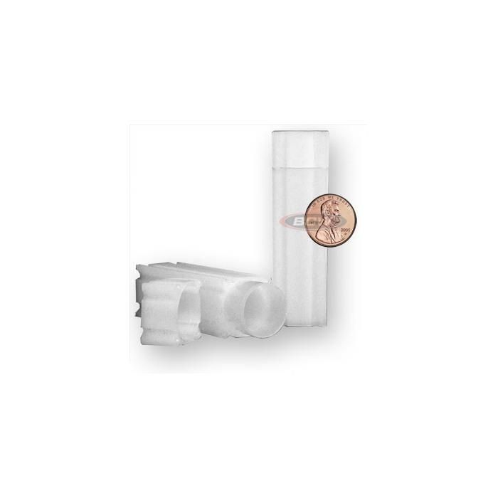 200 CoinSafe Square Penny/Cent Clear Plastic Coin Storage Tubes Archive Safe Box