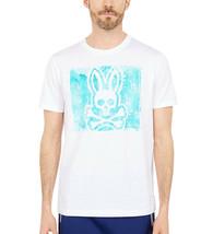 Men's Psycho Bunny Short Sleeve Haley Graphic Tee Skull Logo White T-Shirt