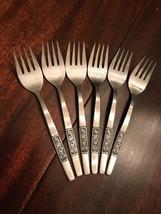 6 Amefa Royal Damask Salad Fork Stainless Flatware Silverware Satin Holland - $28.71