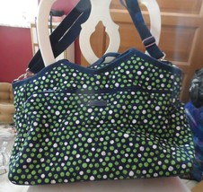 Vera Bradley LUCKY DOTS Carryall Travel Tote Carryon w/ Trolley Sleeve - $75.00