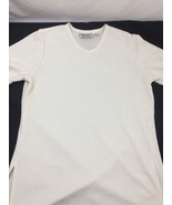 Kathie Lee Collection Women Cream  White Blouse V-neck Short Sleeve Poly... - $15.90
