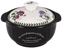 "KitchenFlower Ceramic Pot Pottery 7.4"" 2.6quarts Heat Resistant Loess Ceramic Cl"
