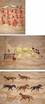 Vintage Western Cowboys & Native American Play Set Figures TeePee Access... - $39.99