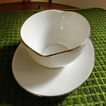 Vintage Noritake Pasadena Gravy Boat with Attached Plate Made in Japan image 3