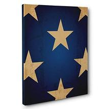 Star With Navy CANVAS Wall Art Home Décor - $32.18