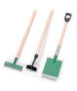 Miniature 3 Piece GARDEN TOOL SET Doll House Diorama Fairy Garden Shovel... - $3.87