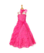 Fuchsia Layered Crystal Organza Sequin Floral Embroidery and Beads Girl ... - $48.00+
