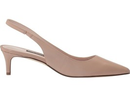 Nine West Feliks Slingback Pointed-Toe Kitten Heel Pumps, Beige, Size 7 ... - $59.99