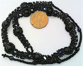 Black Onyx Beaded Daisy Chain Necklace - $16.99