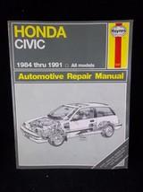 1984-1991 Honda Civic Sedan Hatchback Wagon CRX Haynes Repair Manual 1227 - $17.50