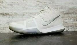 Mens Nike Kyrie 3 Basketball Shoes Sz 8.5 Used 852395 103 Blemish White Chrome - $29.69