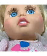 1990 Galoob Baby Face Doll No 7 So Innocent Cynthia Blonde Hair Blue Eye... - $62.99