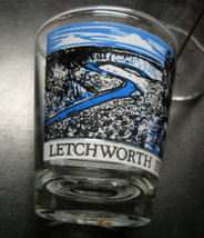 Letchworth State Park Shot Glass Blue and Black Overhead View Wrap Clear... - $6.99