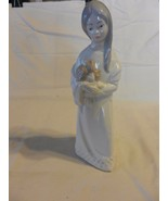 Porcelans Jango Girl with Flower Bouquet Figurine, Hand Painted Made in ... - $37.13
