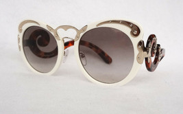PRADA Women's Sunglasses PR07TS VAG 0A7 MINIMAL BAROQUE Ivory Acetate IT... - $199.95