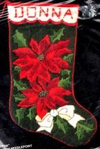 Bucilla Poinsettia Christmas Flower Holiday Long Needlepoint Stocking Ki... - $99.95