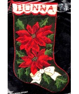 Bucilla Poinsettia Christmas Flower Holiday Long Needlepoint Stocking Ki... - $99.95