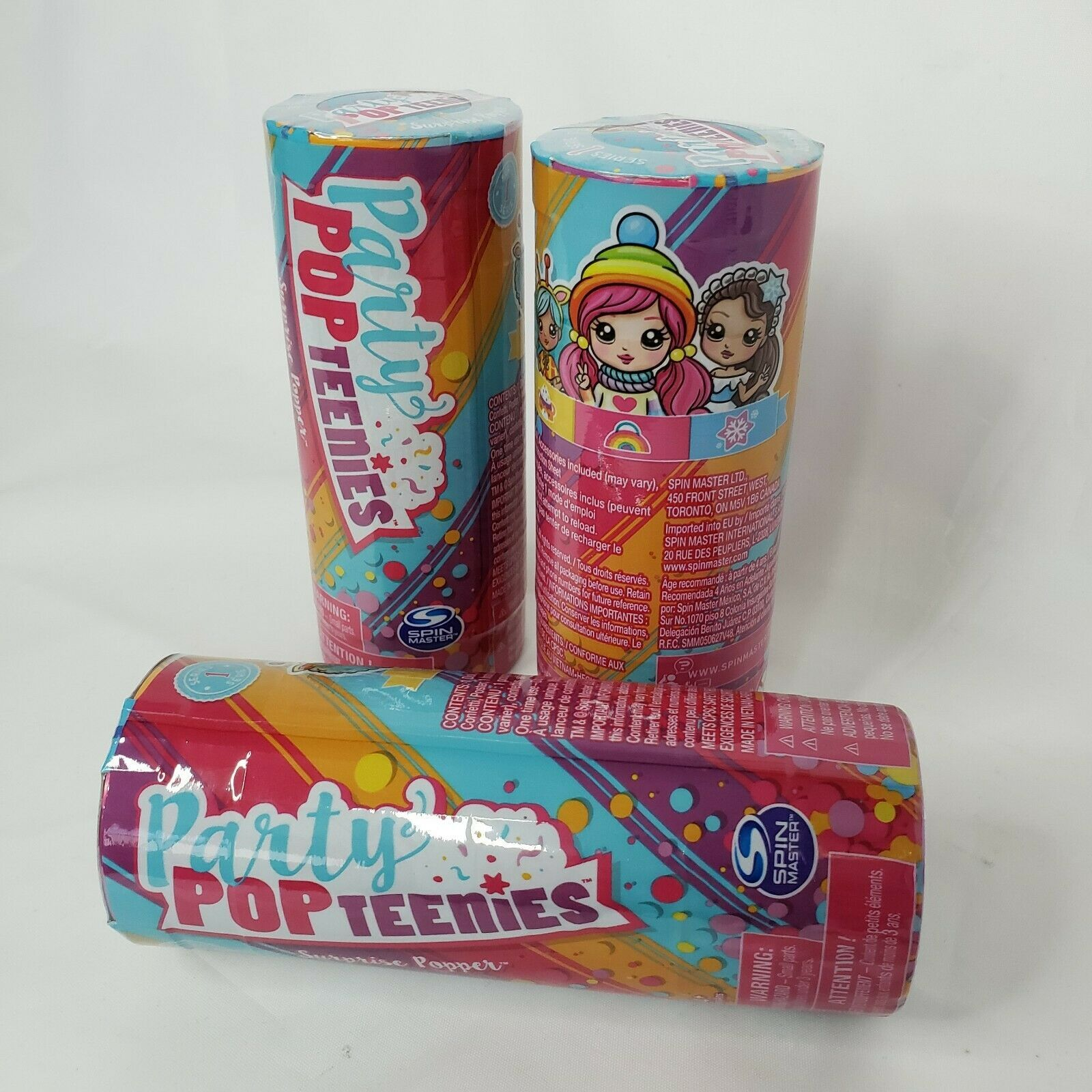 Primary image for 3x Party Pop Teenies Party Surprise Popper Series 1 Lot Of 3 Spin Master