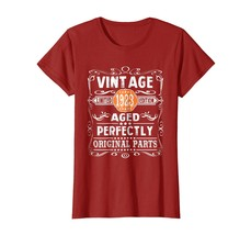 Uncle Shirts -   95th Birthday Gift Shirt Vintage 1923 Aged Perfectly Sh... - $19.95+