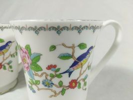 Aynsley Pembroke Tea Cups Fine English Bone China Birds Floral Set of 2 Mugs image 11