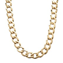 PalmBeach Jewelry Yellow Gold Tone Curb-Link Necklace (17mm) - $9.49