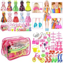 66 Barbie Doll Handmade Dress Fashion Clothes Accessories Lot Party Gown... - $14.56