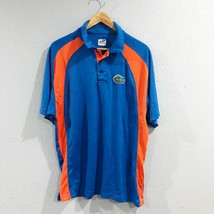 J.America | Mens L Blue Orange Florida Gators NCAA Polo Shirt Short Sleeve - $11.28