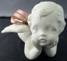 Scion Reclining Angel Figurine with Ribbon - $14.85