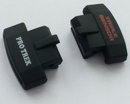 Casio Genuine ProTrek Strap Cover End Piece PRW-3000G-1 6H 12H Black 2 pcs - $28.60