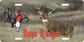 Hunting Grim Reaper Crossbow Deer Skull Bone Hunter License Plate Car Tr... - $18.95