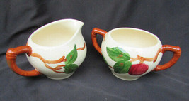 Franciscan ware Apple creamer pitcher and sugar bowl made USA nice - $7.67