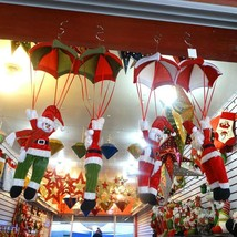 Home Ceiling Decorations Parachute 24cm Hanging Pendant Christmas Decora... - $10.90