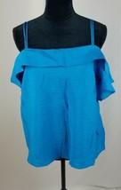 Maeve Anthropologie women L blue Mandalay open shoulder blouse - $45.49