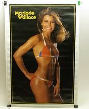 Marjorie Wallace 1978 Vintage Original Pinup Bikini Poster 1973 Miss World - $21.51