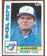 Bobby Cox, Blue Jays,  1984 #202 Topps  Baseball Card GDC - GREAT CARD - $2.96