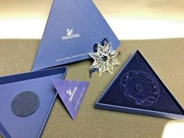 Swarovski Crystal Snowflake Christmas Large Ornament 2003 Original W Box  - $89.10
