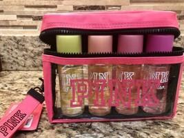 NEW Victoria's Secret PINK Endless Weekend Travel Mist 5 pc Set W Zip Clutch Bag - $32.62